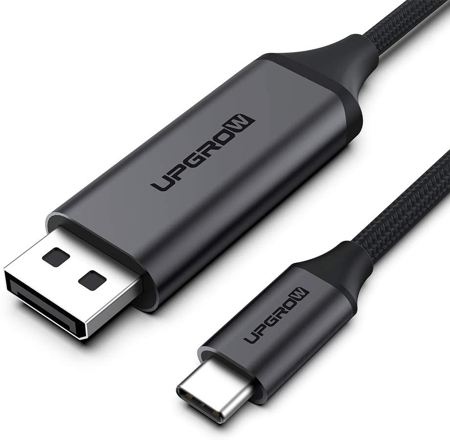 Upgrow USB C to DisplayPort Cable 4K@60Hz 6FT for Home Office USB C to DP Cable Compatible with MacBook Pro/Air, iPad Pro with USB-C Port laptops/Phones (UPGROWCMDPM6)