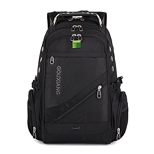 GOUXIANG Business Laptop Backpack- Water Resistant Computer Bag With Multipfunction Sports Gym Bag College Backpack Travel Backpack Daypack Fits Under 16-Inch Laptop and Notebook, Black