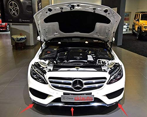 Chrom f/ür Mercedes W205 C300 C350 C200 2014 FidgetGear Frontsto/ßstange 2017 3 St/ück