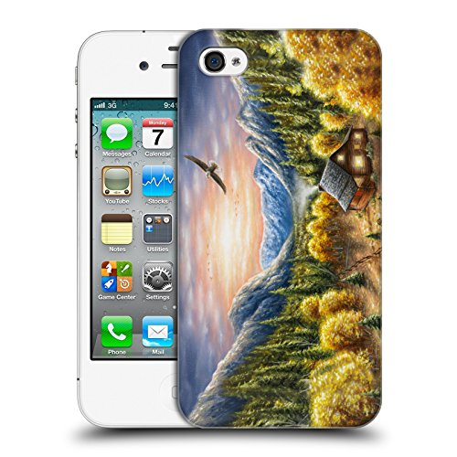 Cooliphone4Cases.com-2824-Mountainous Dreams Cabin Hard Back Case for Apple iPhone 4 / 4S-B01KX4EN32-T Shirt Design