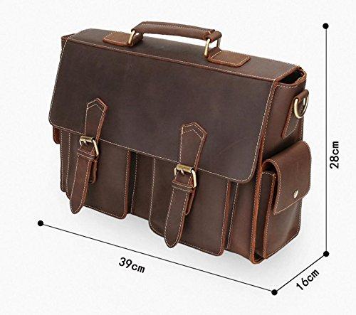 Bolso de cuero del caballo del caballo de los hombres / bolso felices del mensajero del bolso de la computadora , coffee coffee