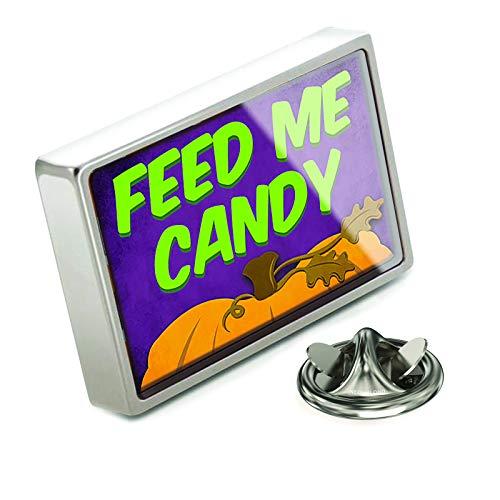 NEONBLOND Lapel Pin Feed Me Candy Halloween Pumpkin Top -