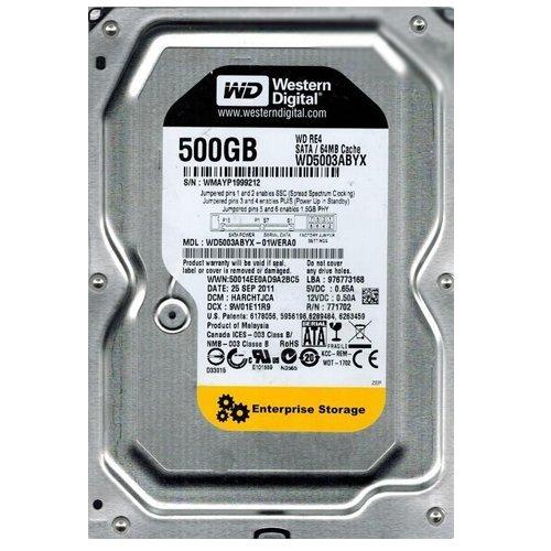 WD5003ABYX-01WERA0 Western Digital 500GB 7200RPM SATA 3.0 Gbps 3.5 inch RE4 Hard Drive