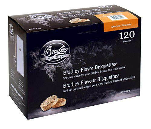 Bradley Mesquite Bisquettes 120 pack (Smoker Mesquite Chips compare prices)