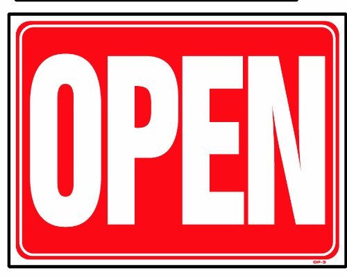 OPEN (Back side is CLOSED) 18x24 Heavy Duty Plastic Sign