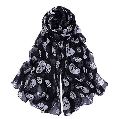 (Chiffon Scarf Skull Scarf Soft Chiffon Scarf Long Lightweight Shawl Fashion Scarfs For Women )