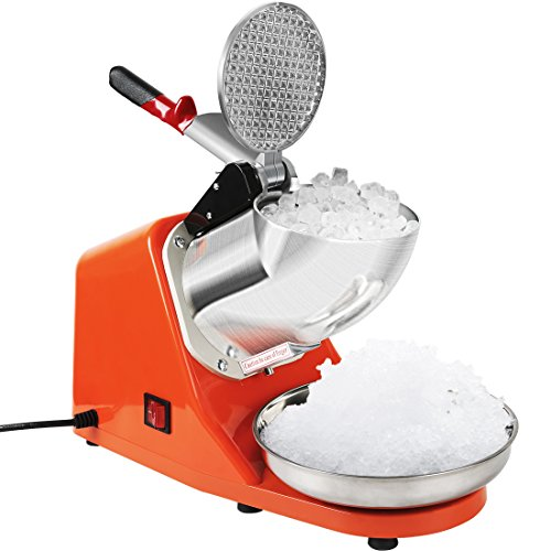 (VIVOHOME Electric Ice Crusher Shaver Snow Cone Maker Machine Orange 143lbs/hr for Home and Commerical Use)