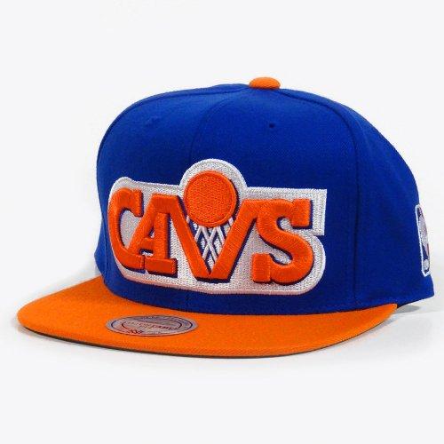 NBA Mitchell & Ness Cleveland Cavaliers XL Logo Two Tone Snapback Hat - Royal Blue/Orange ()