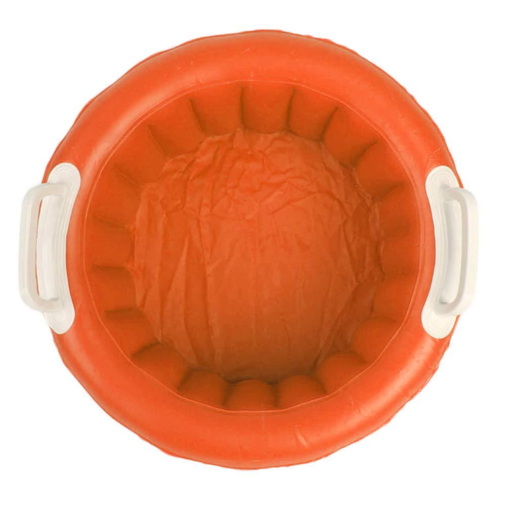 Inflatable Ice Bucket, Beer Cooler, Pool Party Floating Cooler for Outdoor Indoor Summer Party (Orange) LBZE