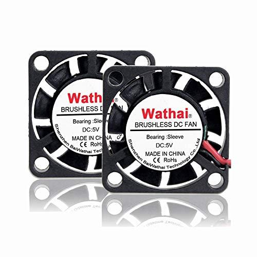 (2pcs Wathai DC Brushless Cooler Cooling Fan 25mm x 7mm 5V 2Pin)