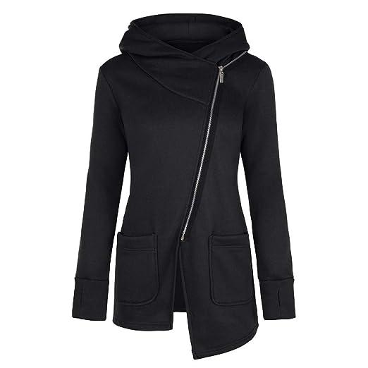 8b00e6f6c Winter Jackets for Women, ZYooh Diagonal Zipper Lapel Hoodie Blouse  Sweatshirt Coat Outwear with Pocket