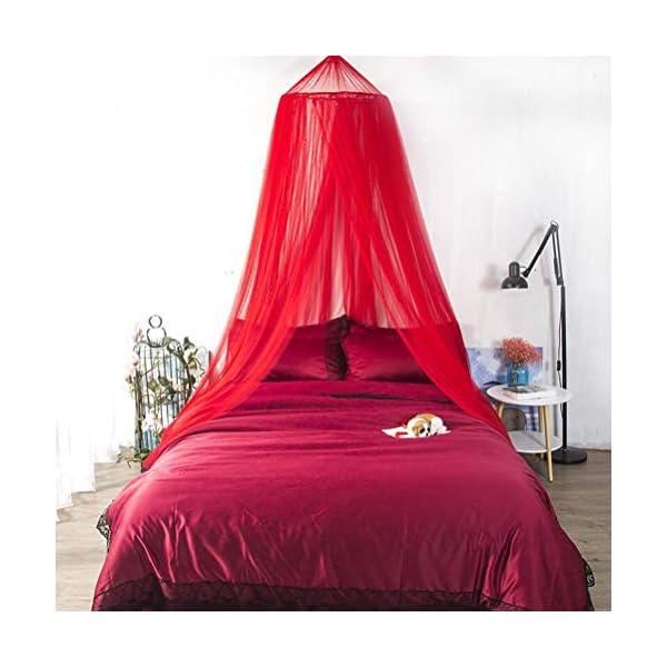 ZXYSR Princess Letto A Baldacchino Zanzariera per Bambini Culla, Round Dome Kids Indoor Castle Play Tent Tela di Appeso… 1 spesavip