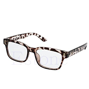 39345b8af3a Image Unavailable. Image not available for. Color  Tsond Fashion Vintage Men  Women Flat Eyeglass Frame  Full ...