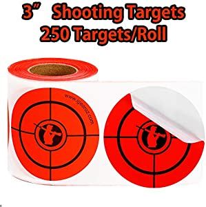 Sweepstakes: Neon Red Shooting Targets Stickers-Mega...