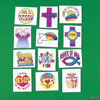 Religious Tattoos 72 Pack Novelty product image