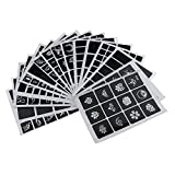 MagiDeal 358 Kinds Small Paster Fashion Tattoo Stencil Drawing Templates Sticker Book