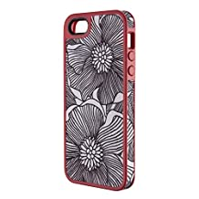 Speck Products FabShell Fabric-Covered Case for iPhone 5, Retail Packaging, FreshBloom Coral Pink/Black