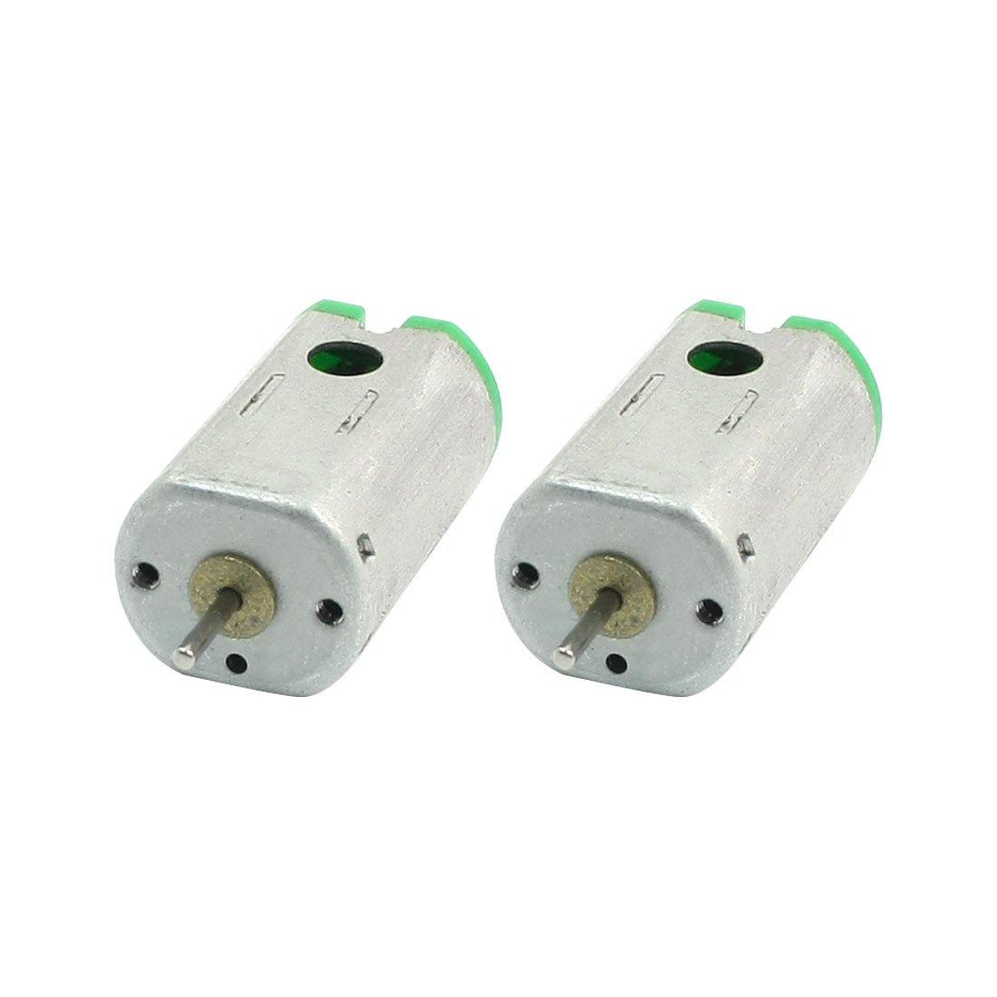 sourcingmap/® 2 pcs 1mm diam/ètre larbre dentra/înement magn/étique DC Mini moteur /électrique DC3V 19300tr//min