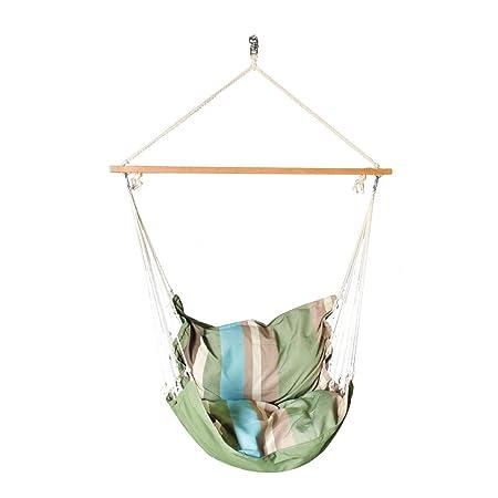Slack Jack Cushion Fabric Swing (Green, Blue and Brown)