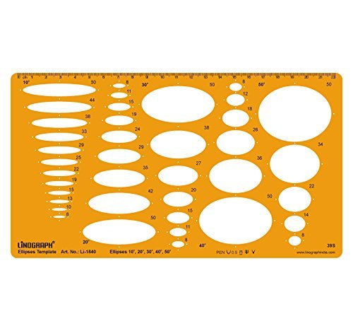 Ellipse Master Templates Drafting And Design Template Stencil Symbols Technical Drawing Scale by LINOGRAPH