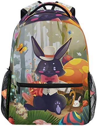 イースターウサギの卵カジュアルバッグ リュック リュック ショルダーバッグ 流行 おしゃれ 人気 ラップトップバッグ こども 通勤 通学