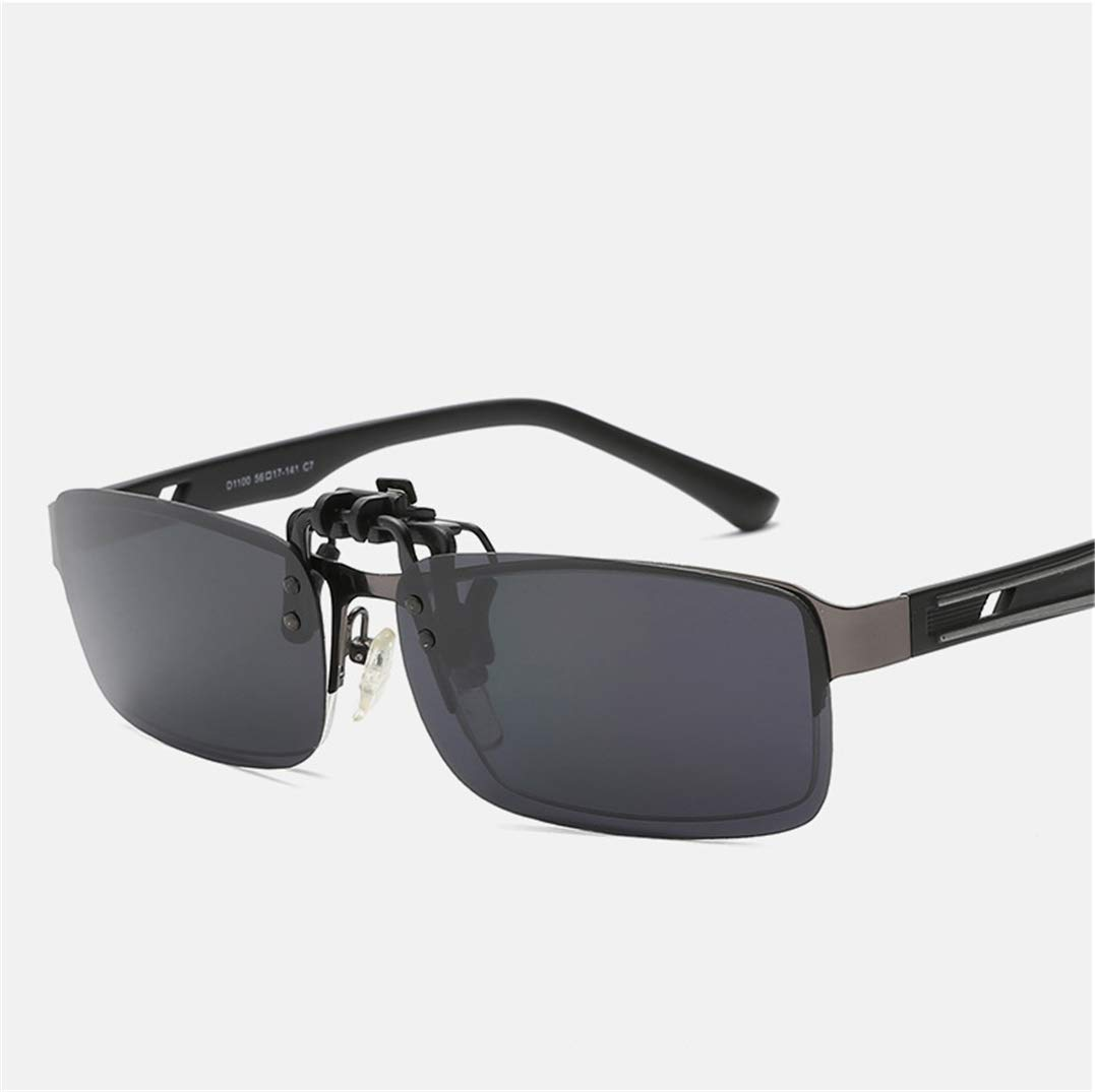 Polarized Unisex Clip on Sunglasses UV400 Flip-Up Sunglasses clip-on Prescription Eyeglasses Ideal for Driving and Outdoors
