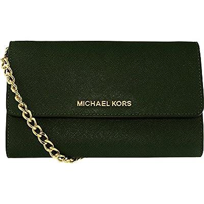 Michael Kors Women's Jet Set Crossbody Leather Bag, Moss, Large