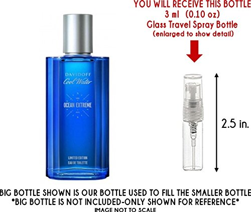 (Cool Water Ocean Extreme by Davidoff Glass Mini Travel Spray for Men (3ml))