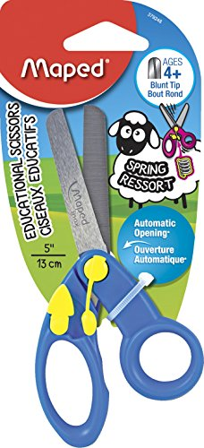 Maped Blunt Tip Dual Right & Left Hand Spring-Assisted Kids Scissors Deal (Large Image)