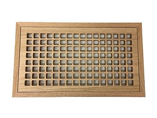 8 inch by 16 oak floor register - 2