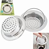 Franke Sinks Glass Fengbao 2-Piece Hand-held Stainless Steel Kitchen Sink Strainer with Large Wide Rim and 4.3-Inch Diameter