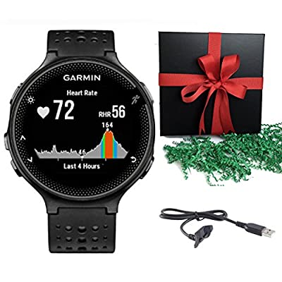 Garmin Bundle Forerunner 235 Sports Watch Running GPS Watch + Charging Cable - Gift Pack
