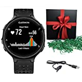 Bundle: Garmin Forerunner 235 Sports Running GPS Watch Activity Tracker Black/Grey WITH CHARGING CABLE - Gift Pack
