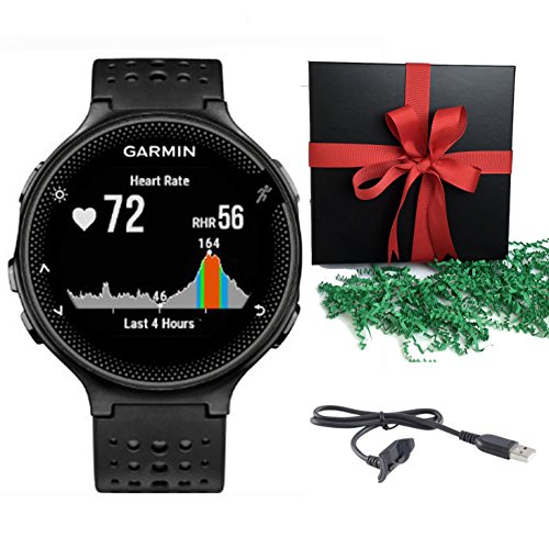 Bundle: Garmin Forerunner 235 Sports Running GPS Watch Activity Tracker Black/Grey WITH CHARGING CABLE - Gift Pack by Garmin