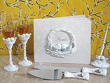 Lovebirds Collection 7 Piece Wedding Accessory Set Love Birds