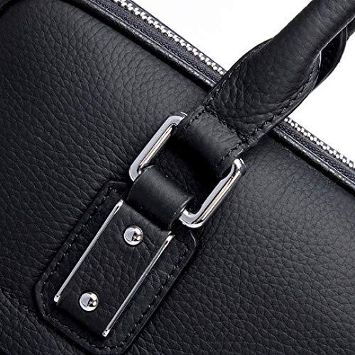 Sac Boutique 2019 Hommes Main L'épaule Sur Épaule Black De Spfazj Vachette À Cuir Mode Nouveau Bandoulière En qHx6xwE