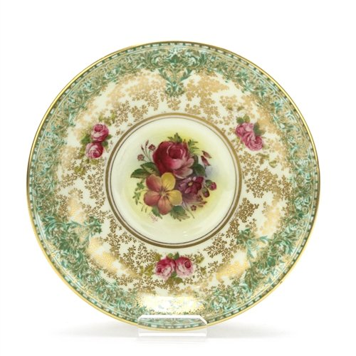 C51 by Royal Worcester, China Bouillon Saucer, Bouillon, Green ()