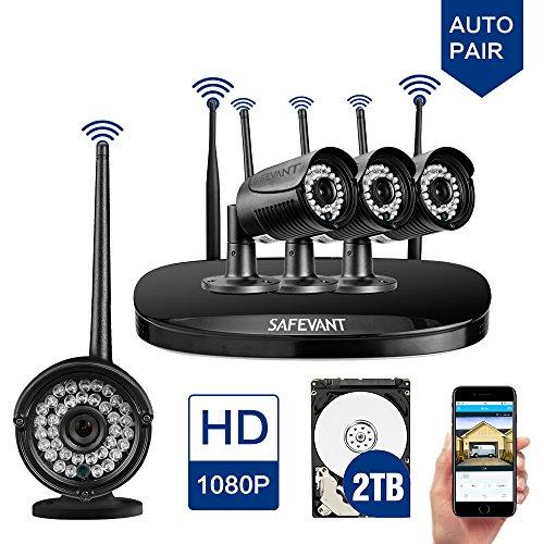 Wireless Cctv Camera System Safevant Full Hd 4ch Wireless