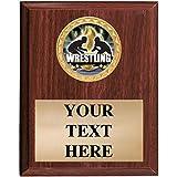 Wrestling Plaques - 5x7 Customized Wrestling Titan Series Trophy Plaque