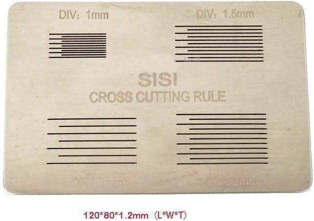 2 mm Tipo C Equipos de prueba de adherencia de adhesi/ón cruzada 3 en 1 de Isunking Equipos de prueba de adherencia de corte transversal Grabadora de pel/ícula de pintura con hojas de 1 mm 3 mm