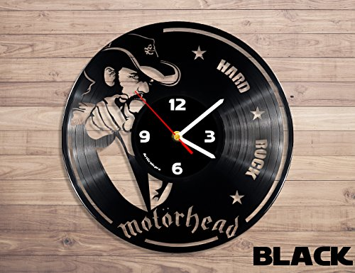 Motörhead rock band vinyl record wall clock