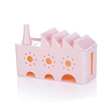 newkelly casa enchufe caja de almacenaje anti-polvo cable alambre cable organizador caso caja: Amazon.es: Oficina y papelería