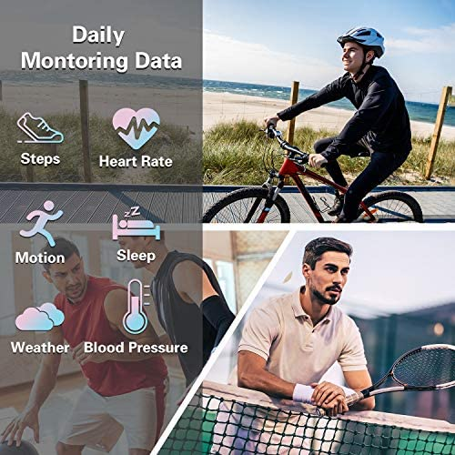 Fitness Tracker Watch Smart Watch for Android Phones Fitness Watches for Men Women Sports Activity Tracker Smartwatch Compatible with iPhone Samsung iOS with Pedometer with Heart Rate Waterproof 51DuoectcPL