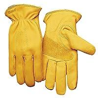 KINCO 198HK Men's Lined Premium Grade Grain Cowhide Leather Gloves, Heat Keep Thermal Lining