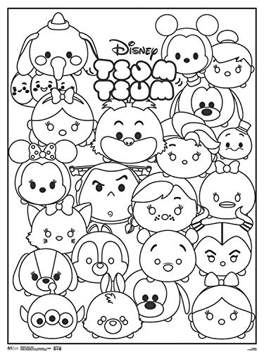 Disney Coloring Poster Set for Kids Adults Disney Princess and More 18x24 Each Disney Princess and More 18x24 Each Trends Int. 3 Giant Coloring Posters Featuring Alice in Wonderland
