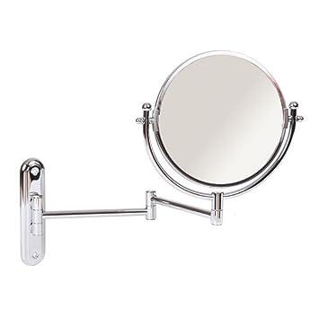 Amazon Com Wall Mount Swinging Arm 4x Magnifying Mirror Finish