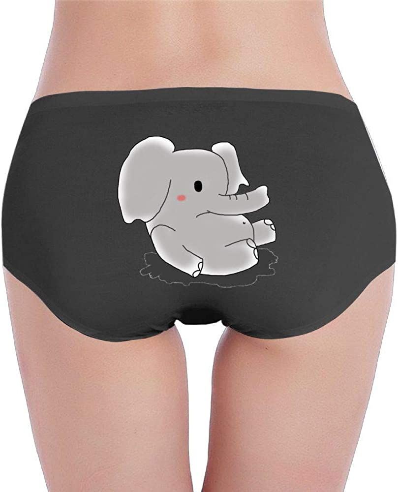 SCJXF/_diy Womens Cotton Underwear Hipster Panties Baby Elephant Breathable Brief