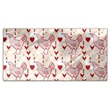 Chicken With Heart Rectangle Tablecloth: Medium Dining Room Kitchen Woven Polyester Custom Print