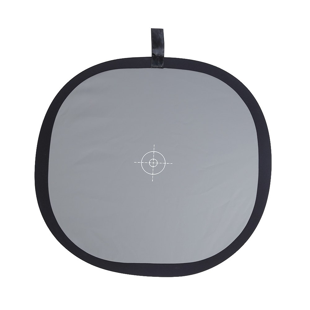 Andoer 60cm / 24' Foldable Grey/White Balance 18% Grey Gray Reference Reflector Card with Carrying Bag QXC7589265182607LD