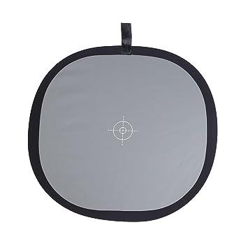 Andoer 30 cm/12 Plegable Gris/Balance de Blancos 18% Gris Gris Tarjeta de Referencia Reflector con Bolsa de Transporte